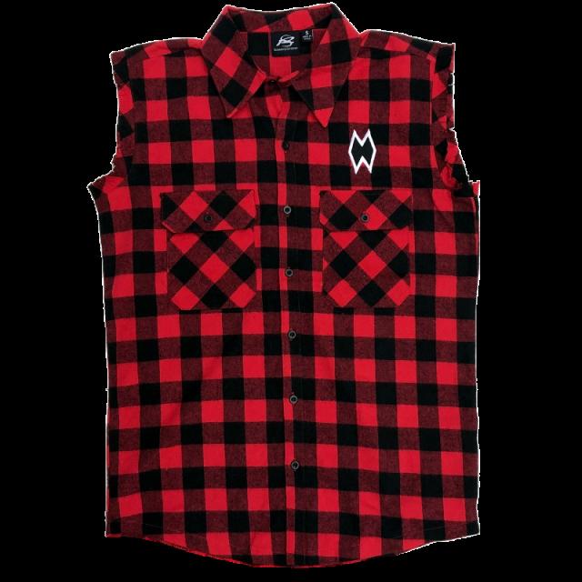 Morgan Wallen Red Plaid Muscle Shirt