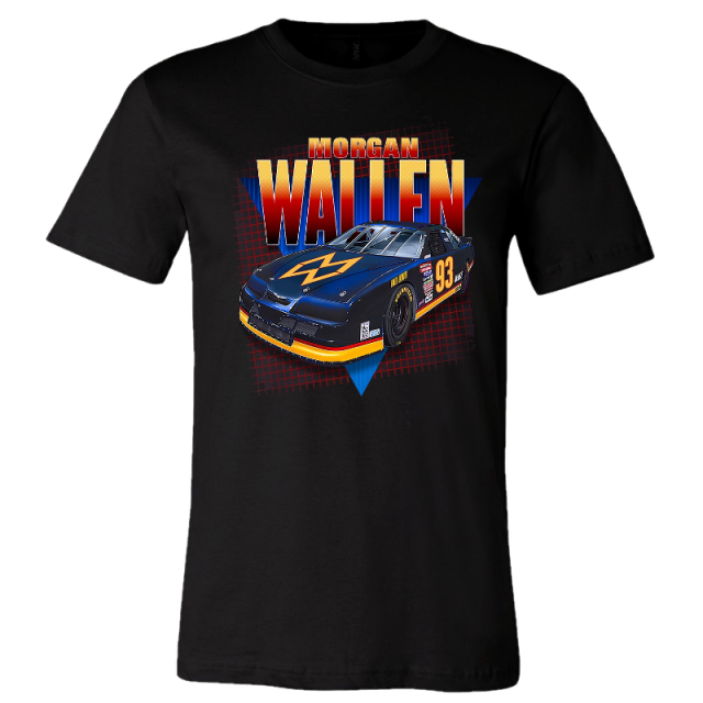 Morgan Wallen Black Race Car Tee