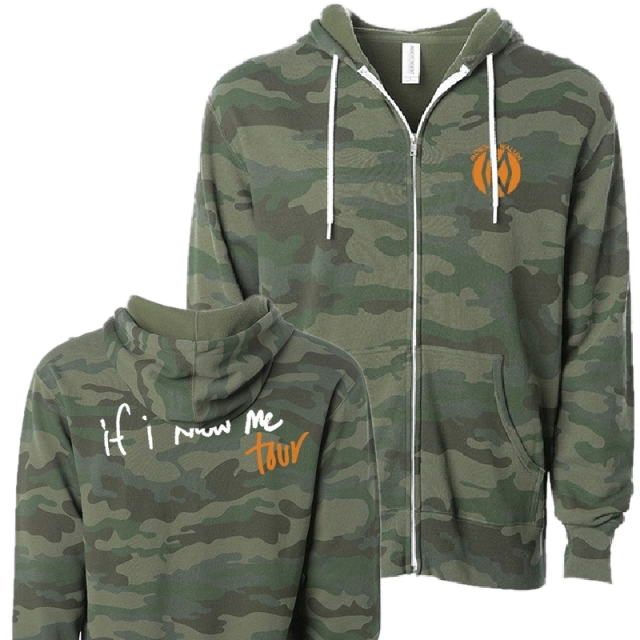 Morgan Wallen Camo Zip Up Hoodie